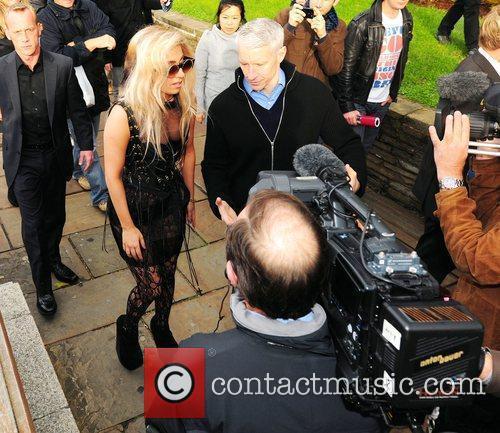 Lady Gaga and Anderson Cooper Lady Gaga gives...