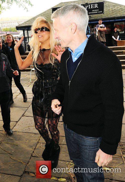 Lady GaGa, Anderson Cooper, CNN, South Bank London