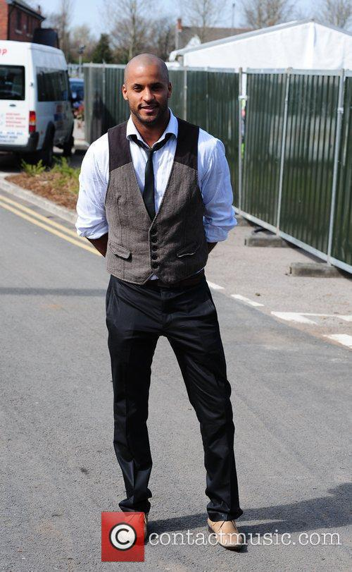Ricky Whittle 'Ladies Day' at the horse racing...