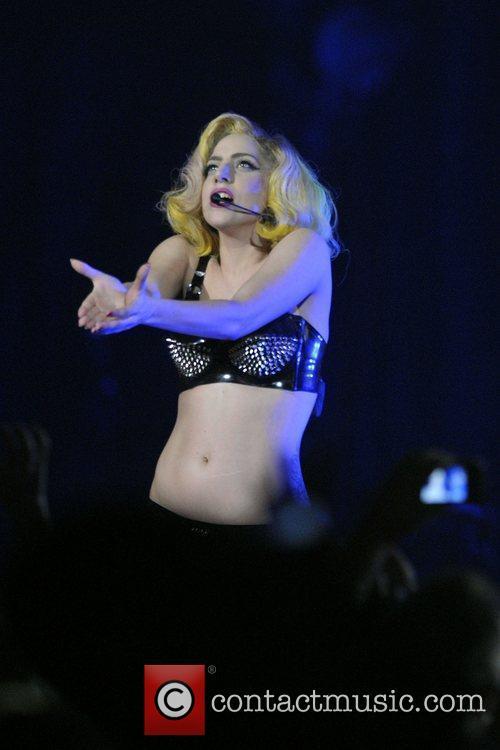 Lady Gaga performing live at the Air Canada...