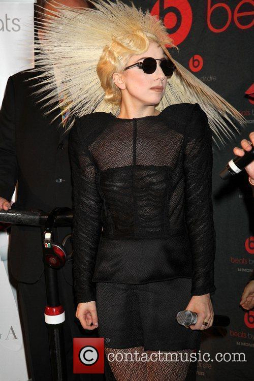 Lady GaGa introduces Monster Cable's headphones 'Heartbeats by...