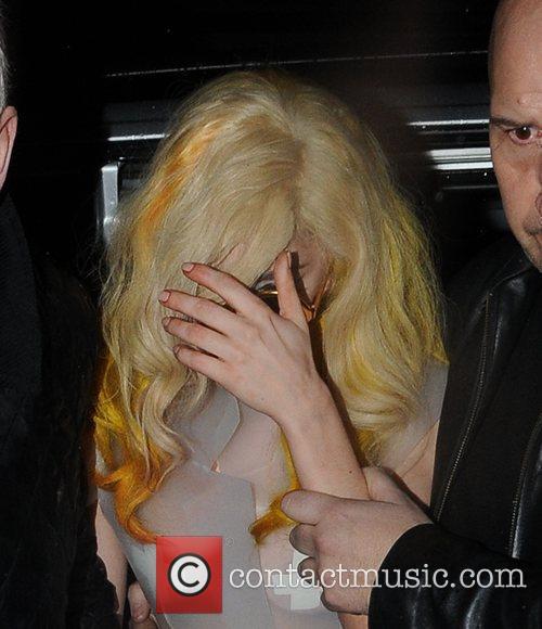 Lady Gaga leaving Mr Chow restaurant in London,...