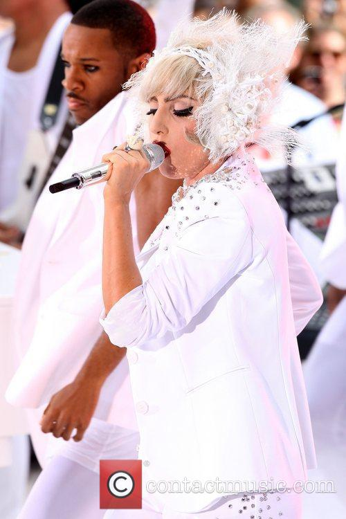 Lady Gaga performing live on NBC's 'Today Show...