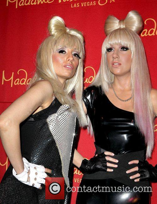 The unveiling of Lady Gaga's new wax figure...
