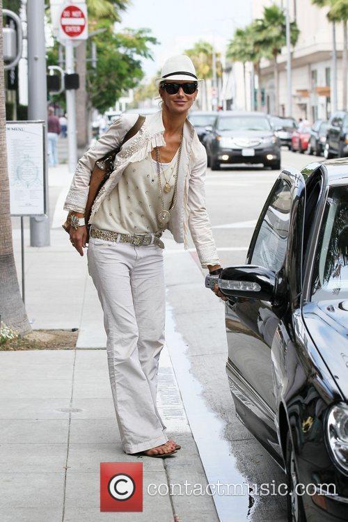 Departs Villa Blanca in Beverly Hills after having...