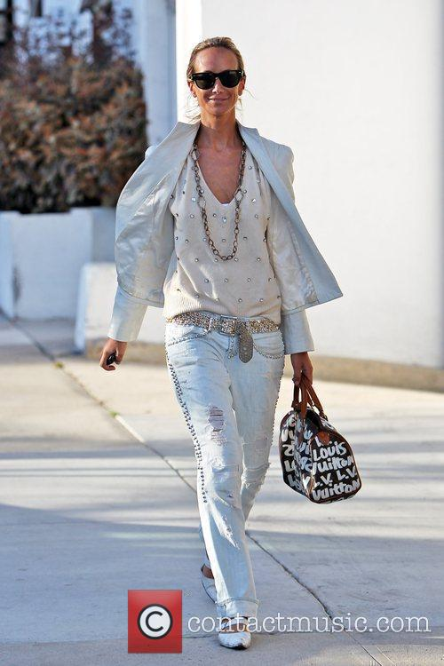 Lady Victoria Hervey walks to the Andy Lecompte...