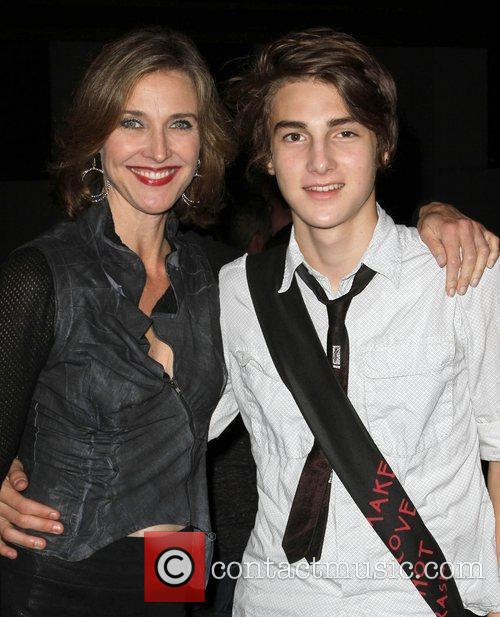 Brenda Strong and son Zach Henrie Los Angeles...