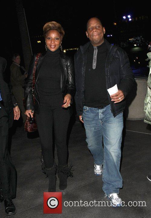 Mary J. Blige and husband Kendu Isaacs arriving...