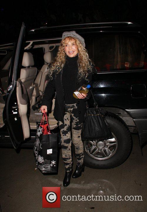 Diane Cannon arrives at the Staples Centre to...