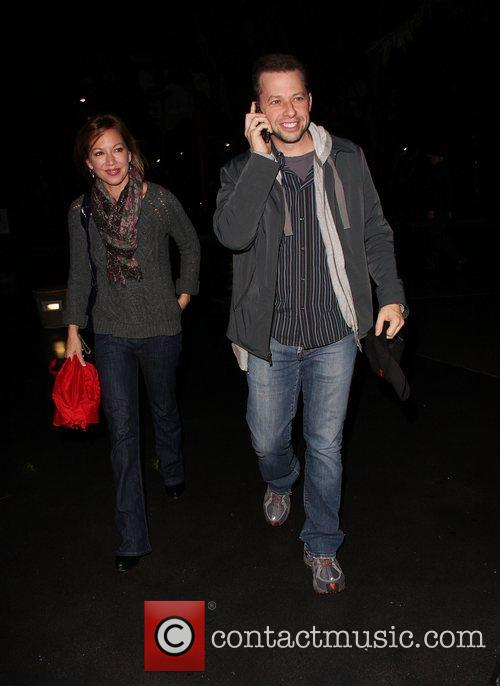 Jon Cryer arrives at the Staples Centre to...