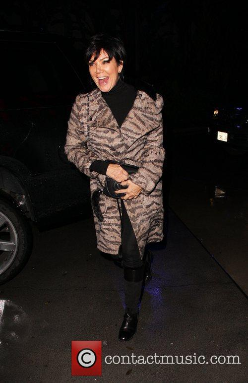 Kris Jenner arrives at the Staples Centre to...