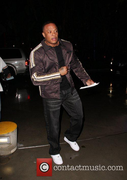 Dr. Dre aka Andre Romelle Young arrives at...