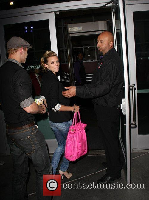 AnnaLynne McCord and Kellan Lutz at the Staples...
