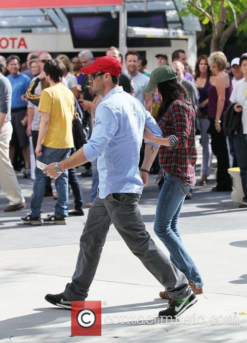 Brian Austin Green and Megan Fox Celebrity arrivals...
