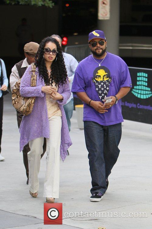 Celebrities are seen attending the LA Lakers vs....