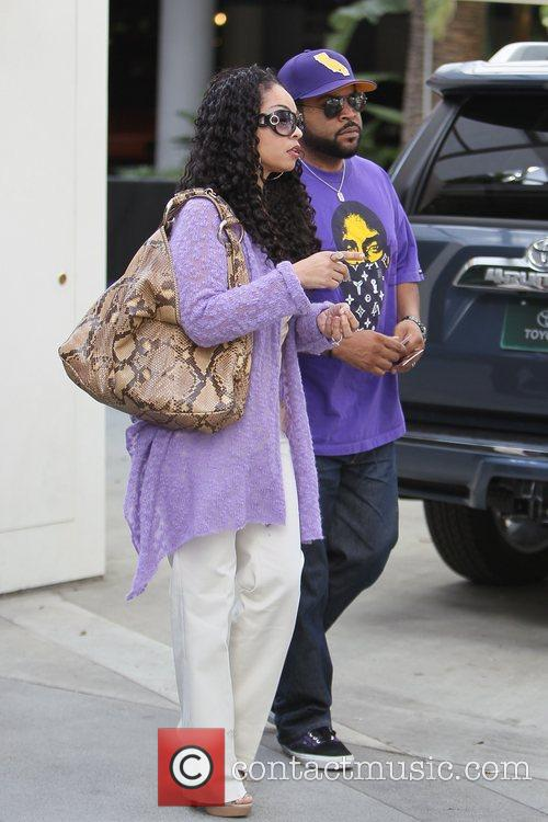 Ice Cube and Wife Celebrities are seen attending...