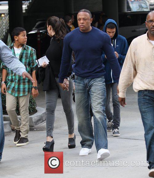 Dr. Dre Celebrities arrive for the LA Lakers...