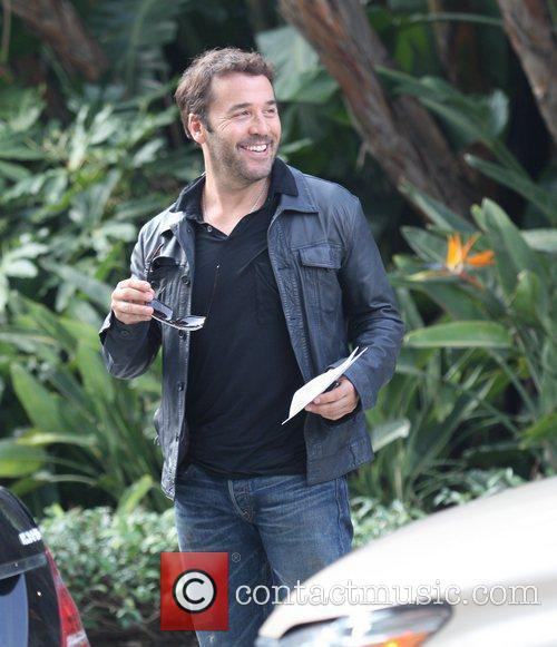 Jeremy Piven Celebrities arrive for the LA Lakers...