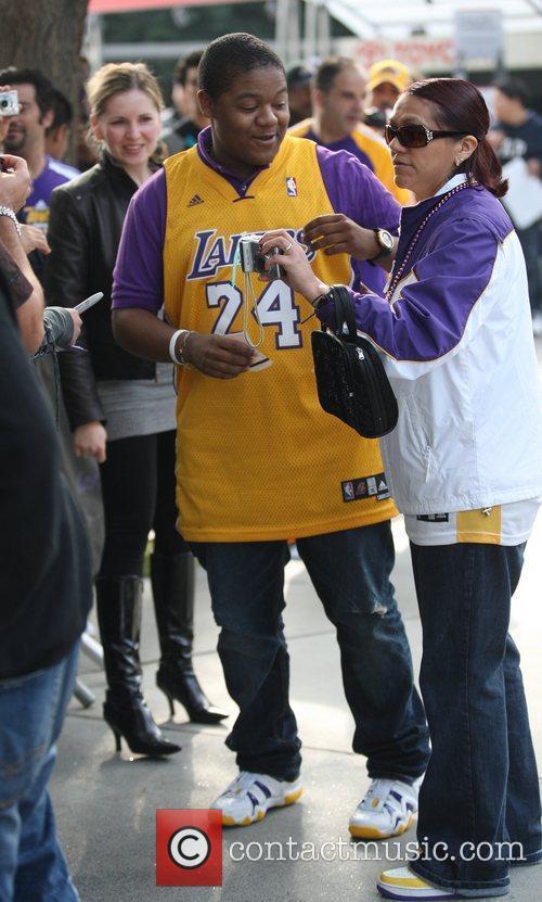 Celebrities arrive for the LA Lakers vs. Miami...