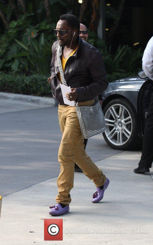 Will.I.Am. Celebrities arrive for the LA Lakers vs....
