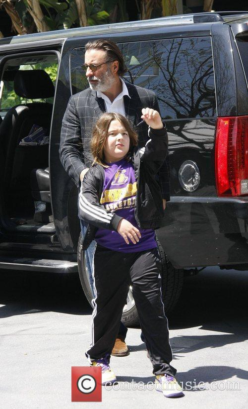 Andy Garcia and his son Andres celebrities attending...