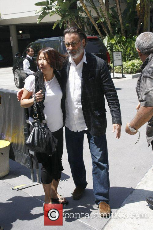 Andy Garcia and a fan celebrities attending the...