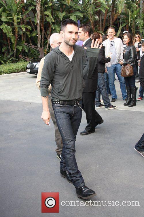 Adam Levine Celebrities arrive for the LA Lakers...