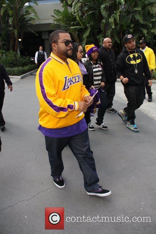 Ice Cube Celebrities arrive for the LA Lakers...