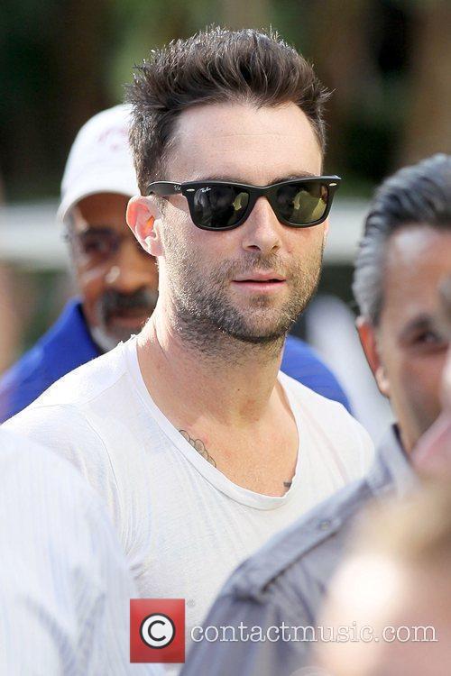 Adam Levine Celebrities arriving at the Staples Center...