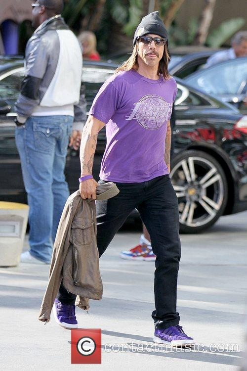 Anthony Kiedis Celebrities arriving at the Staples Center...