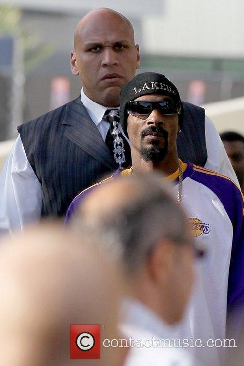 Snoop Dogg Celebrities arriving at the Staples Center...