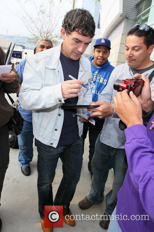 Antonio Banderas Celebrities arriving at The Staples Center...