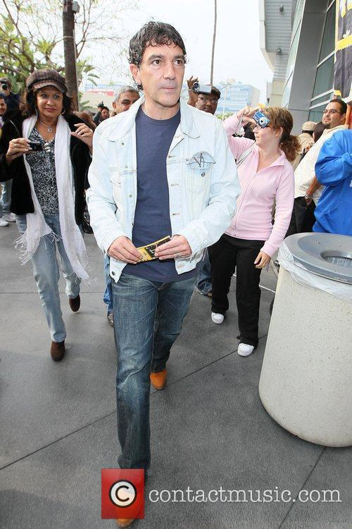 Celebrities arriving at The Staples Center to watch...
