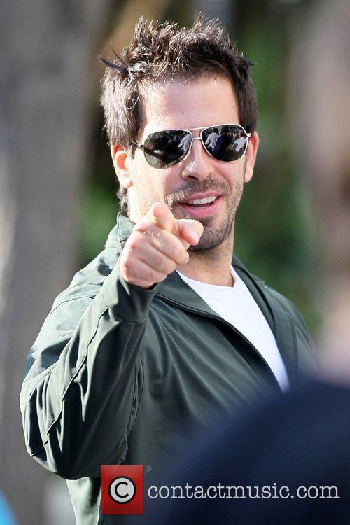Eli Roth Celebrities arriving at the Staples Center...