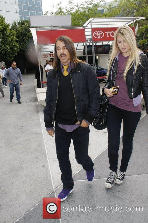 Anthony Kiedis  Celebrities arriving at The Staples...