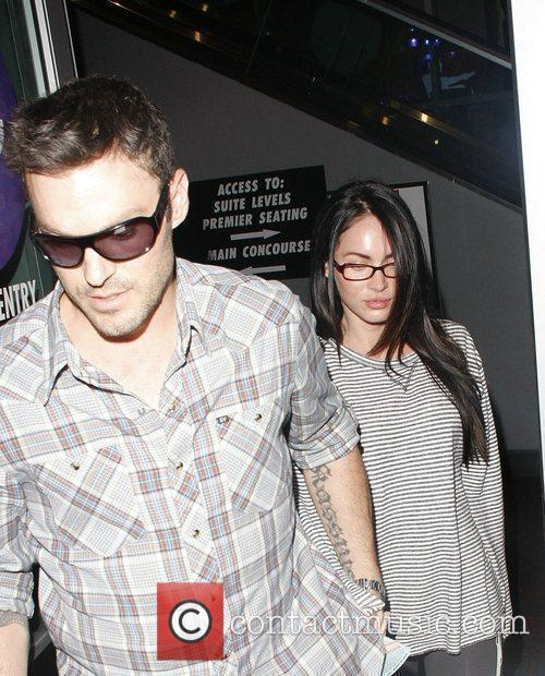 Brian Austin Green and Megan Fox Celebrities arriving...