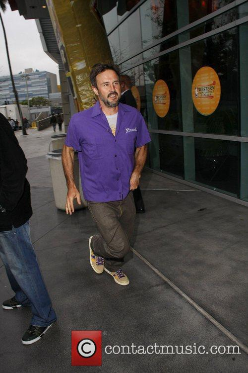 David Arquette Celebrities arriving at The Staples Center...