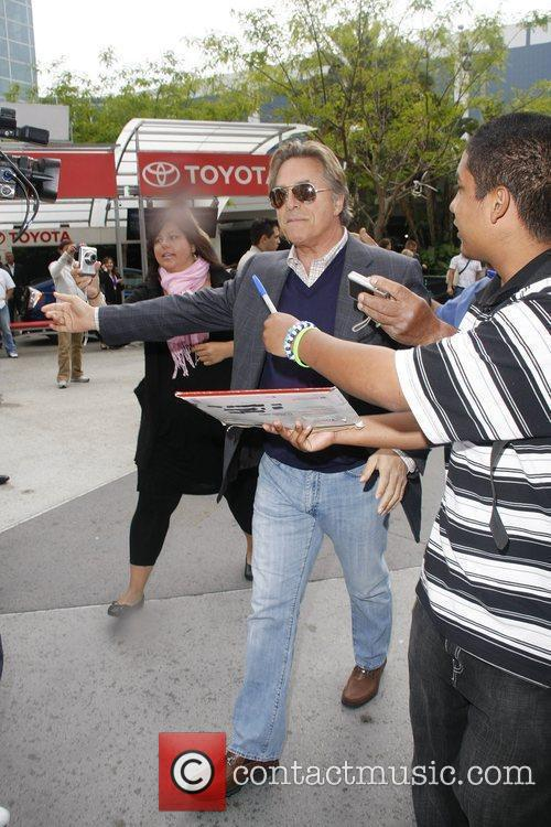 Don Johnson Celebrities arriving at The Staples Center...