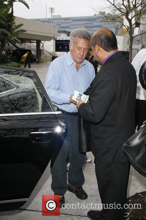 Dustin Hoffman Celebrities arriving at The Staples Center...
