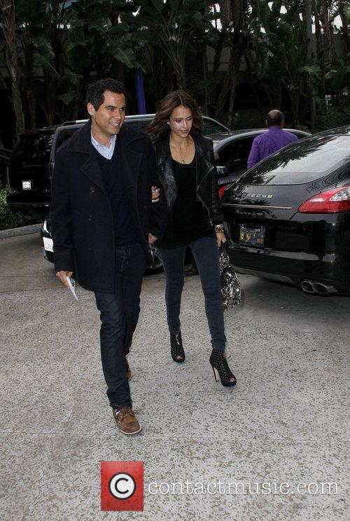 Jessica Alba and Cash Warren Celebrities arriving at...