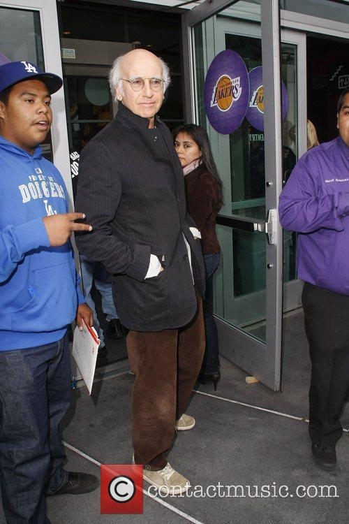 Larry David Celebrities arriving at The Staples Center...