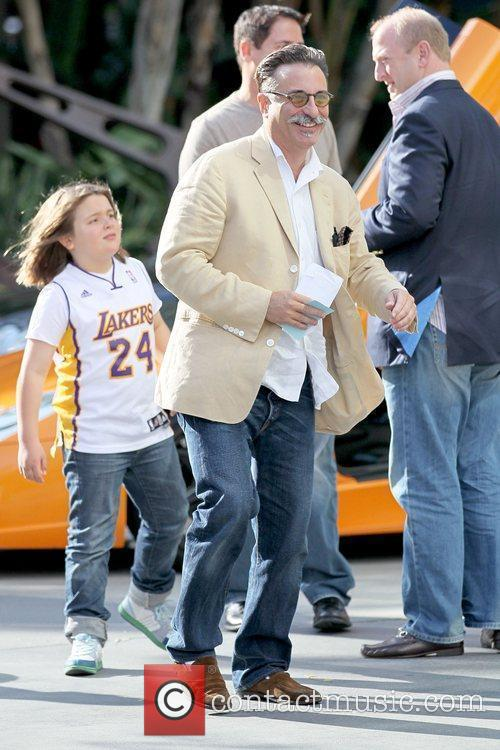 Andy Garcia Celebrities arriving at the Staples Center...
