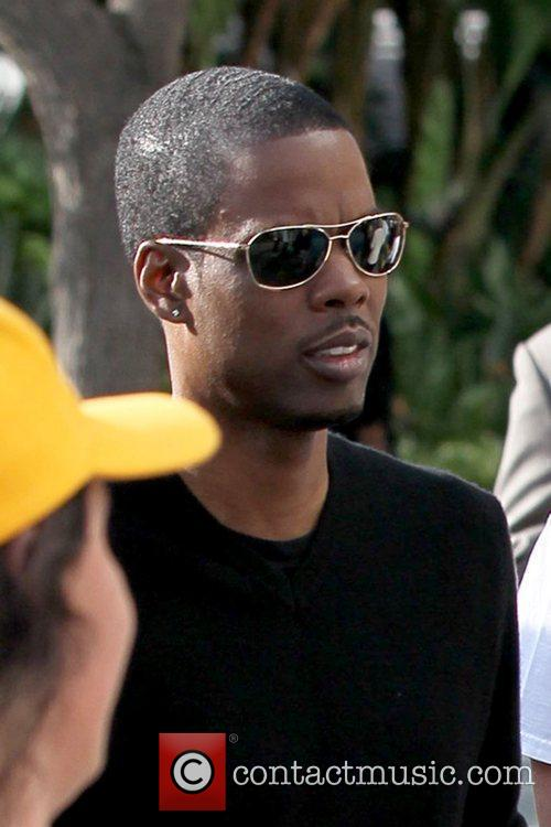 Chris Rock Celebrities arriving at the Staples Center...