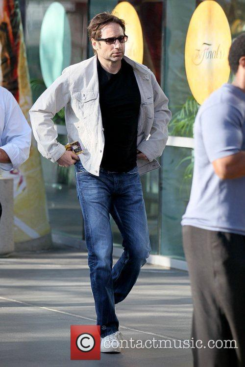 David Duchovny Celebrities arriving at the Staples Center...