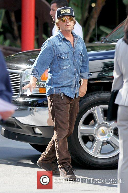 David Spade Celebrities arriving at the Staples Center...