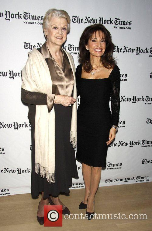 Angela Lansbury poses with Susan Lucci Interview with...