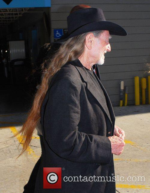 Country Musician Willie Nelson arrives at CNN studios...