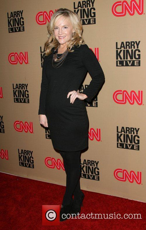 Rachael Harris and Larry King 3