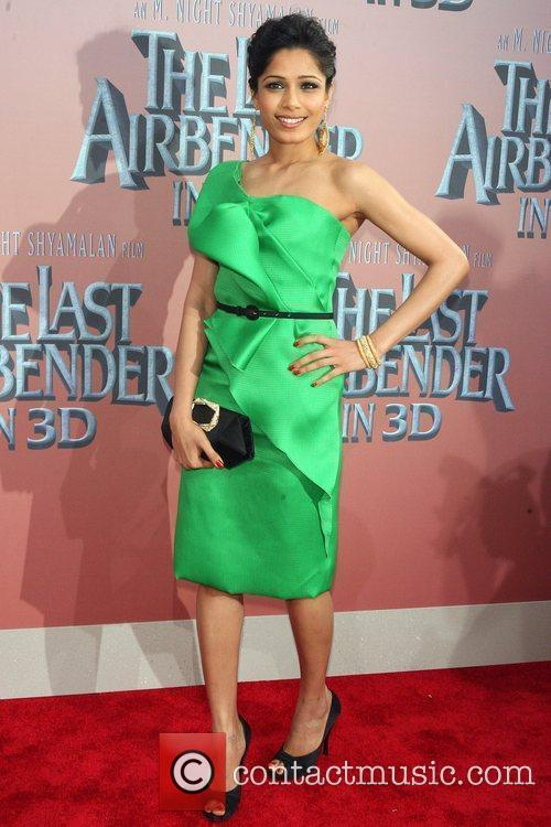 Freida Pinto Premiere of 'The Last Airbender' at...
