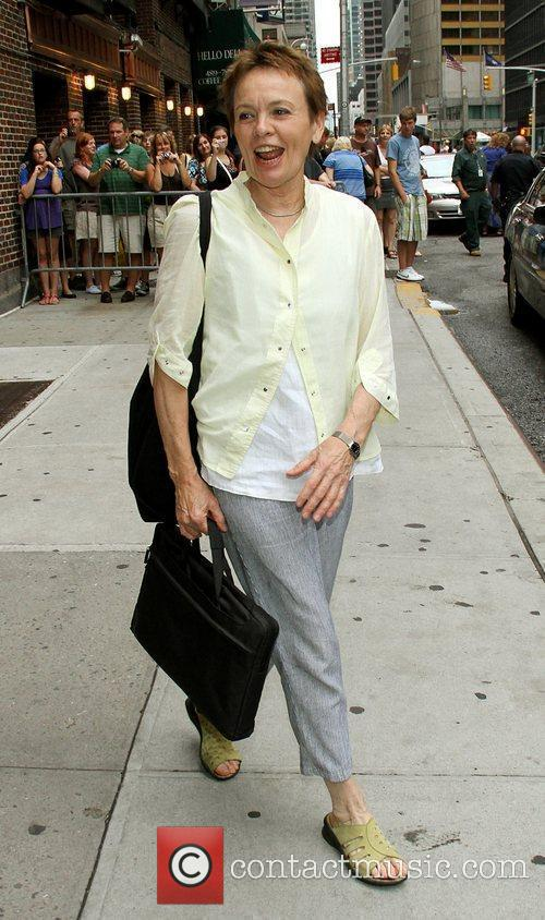 Laurie Anderson and David Letterman 3